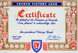 Fourth victory loan : Certificate