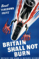 "Beat ""Firebomb Fritz"" : Britain shall not burn. Britain's Fire Guard is Britain's defence"