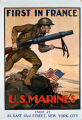 First in France : U.S. Marines