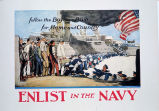 Follow the boys in blue for home and country : enlist in the Navy