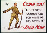 "Come on! ""Don't spoil a good fight for want of men to win it"" Join now"